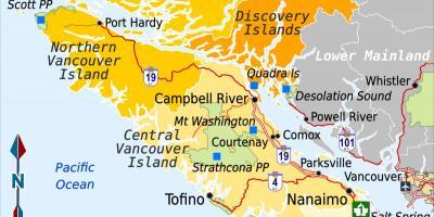 Vancouver Kort Kort Vancouver British Columbia Canada